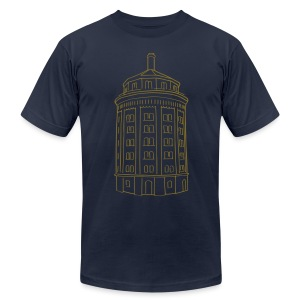Water tower at Kollwitzplatz  - Men's Fine Jersey T-Shirt