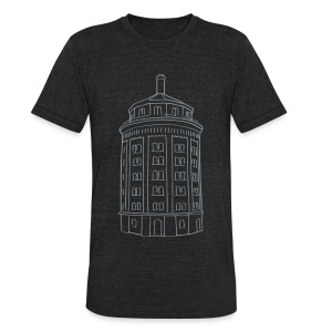 Water tower at Kollwitzplatz  - Unisex Tri-Blend T-Shirt