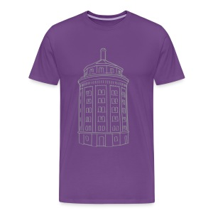 Water tower at Kollwitzplatz  - Men's Premium T-Shirt