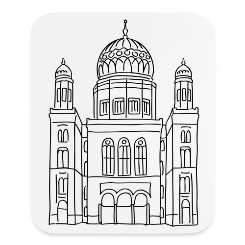 New Synagogue Berlin - Mouse pad Vertical