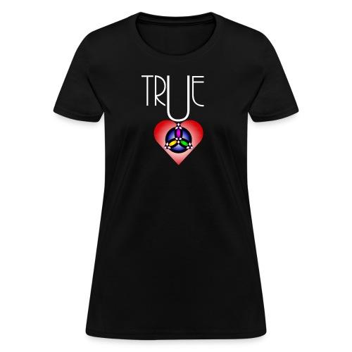 True Heart Trinity Necklace Dark - Women's T-Shirt