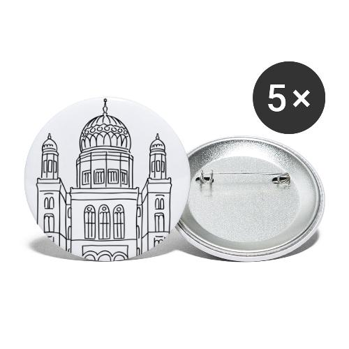 New Synagogue Berlin - Buttons large 2.2'' (5-pack)