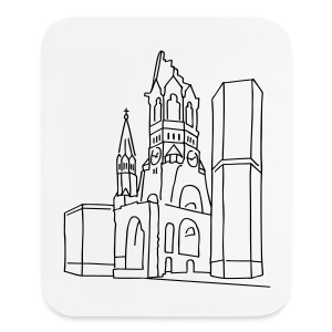Memorial Church Berlin - Mouse pad Vertical
