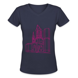 Memorial Church Berlin - Women's V-Neck T-Shirt