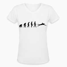 The evolution of swimming Women's T-Shirts