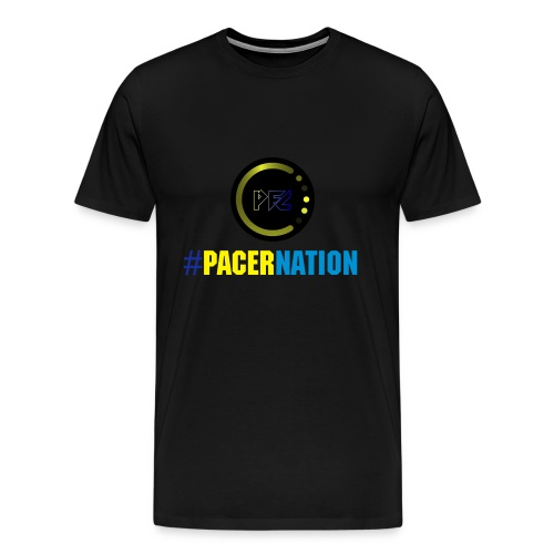 Pacer Nation (Black) - Men's Premium T-Shirt