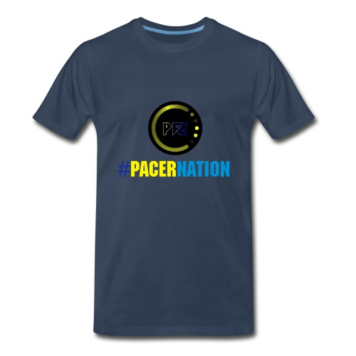 Pacer Nation (Navy) - Men's Premium T-Shirt