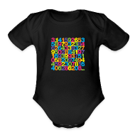 Baby Bodysuits ~ Baby Short Sleeve One Piece ~ Rainbow Pi