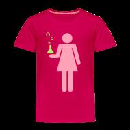 Baby & Toddler Shirts ~ Toddler Premium T-Shirt ~ Science Genius Girl toddler shirt