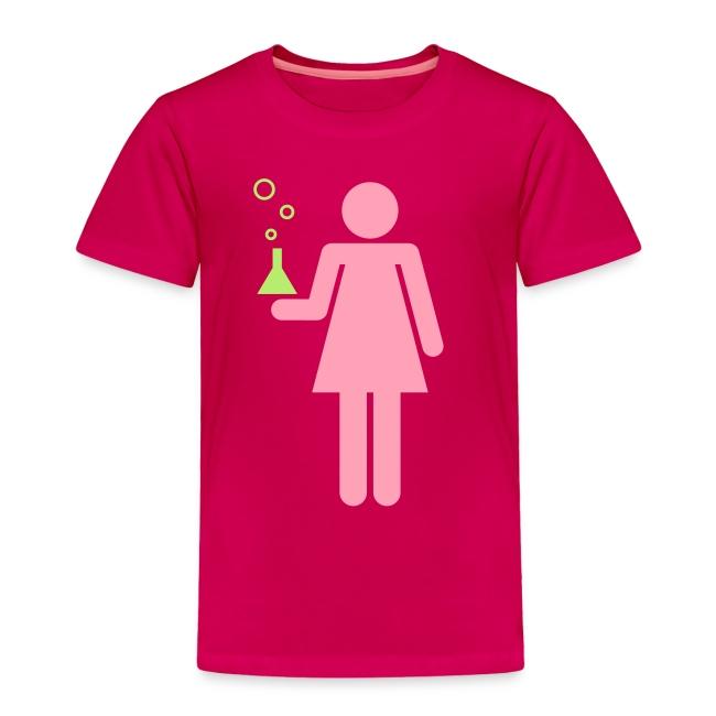 Science Genius Girl toddler shirt