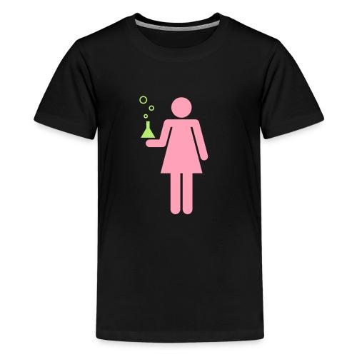 Science Genius Girl kids' shirt - Kids' Premium T-Shirt