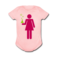 Baby Bodysuits ~ Baby Short Sleeve One Piece ~ Science Genius Girl