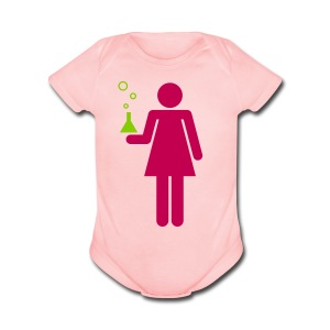 Science Genius Girl   - Short Sleeve Baby Bodysuit