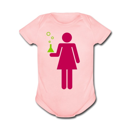 Science Genius Girl   - Organic Short Sleeve Baby Bodysuit