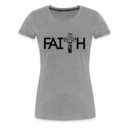 Faith Cross - Women's Premium T-Shirt