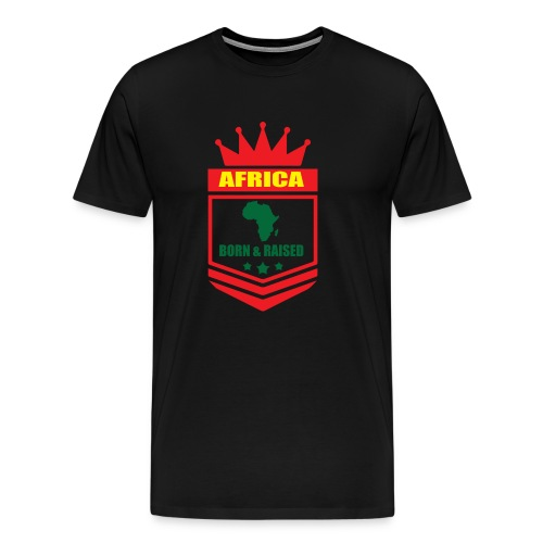 Africa born and raised - Men's Premium T-Shirt