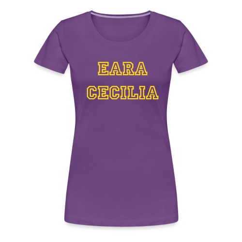 Eara Cecilia PerformanceTee (Purple/Gold) - Women's Premium T-Shirt