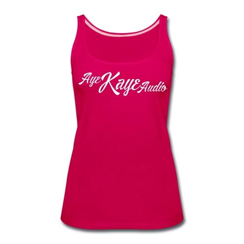 Aye Kaye Audio Classic Logo (Dark Only) - Women's Premium Tank Top
