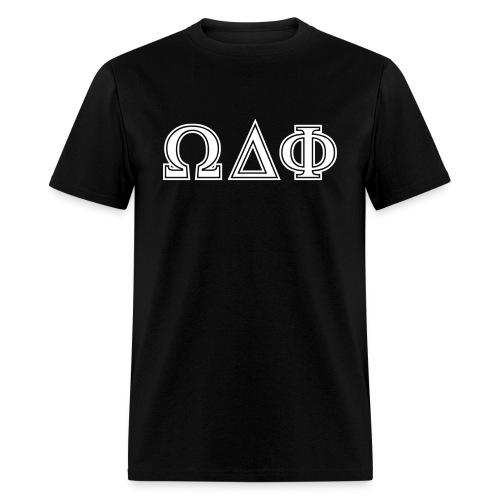 Omega Delta Phi Letters T-Shirt - Men's T-Shirt