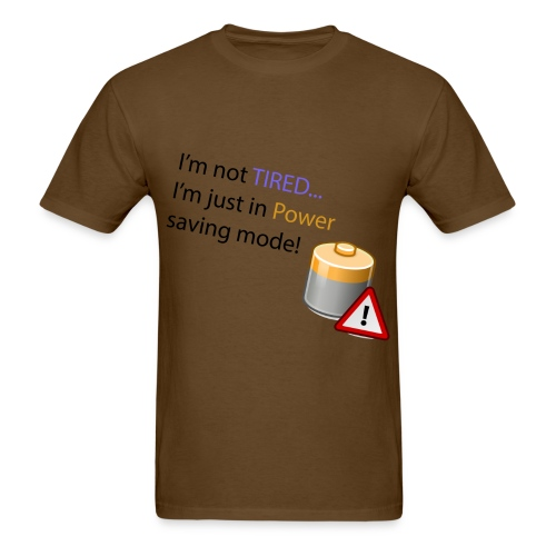 Power Saving Mode - Men's T-Shirt