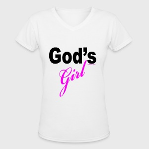 God's Girl - Women's V-Neck T-Shirt