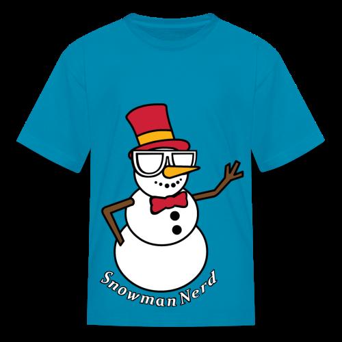 Nerds - Snowman Kids - Kids' T-Shirt