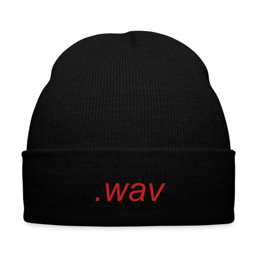 .wav beanie - Knit Cap with Cuff Print
