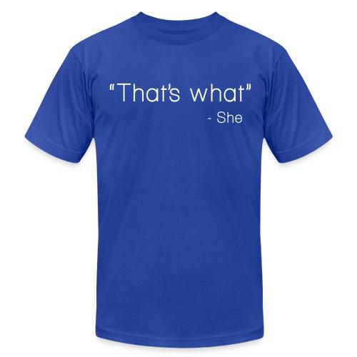 White TWSS (Short Sleeve Men) - Men's Fine Jersey T-Shirt