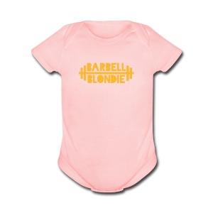 Baby Blondie Onesie - Pink - Short Sleeve Baby Bodysuit