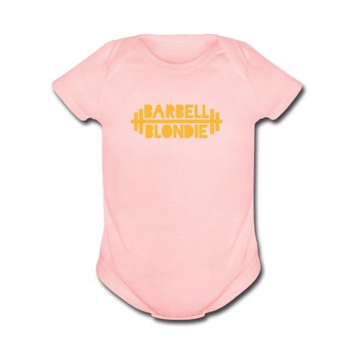 Baby Blondie Onesie - Pink - Organic Short Sleeve Baby Bodysuit