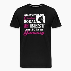 Woman January Birthday T-Shirt