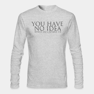 Skope'd Mens Long Sleeve Typography Shirt - Men's Long Sleeve T-Shirt by Next Level
