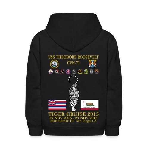 USS THEODORE ROOSEVELT CVN-71 2015 TIGER CRUISE HOODIE - KID'S - Kids' Hoodie