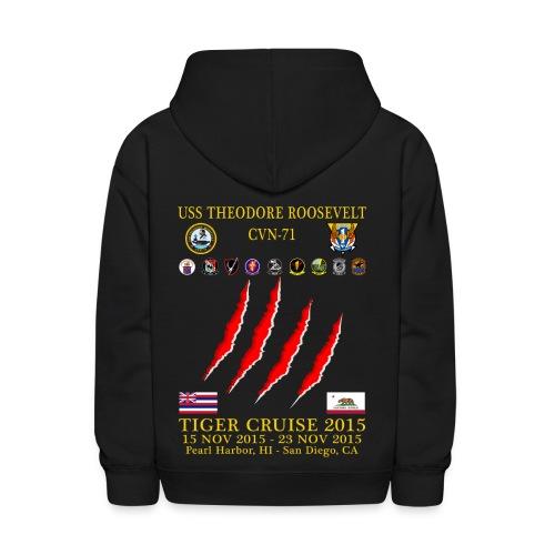 USS THEODORE ROOSEVELT CVN-71 2015 TIGER CRUISE HOODIE - CLAW - KID'S - Kids' Hoodie