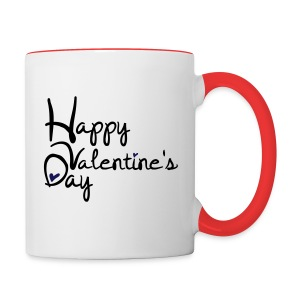 Happy valentine's day Contrast Coffee Mug - Contrast Coffee Mug