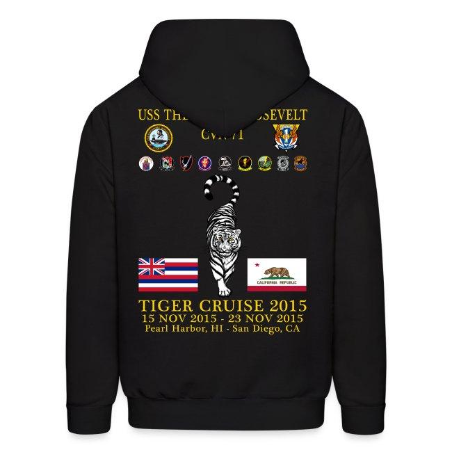 USS THEODORE ROOSEVELT CVN-71 2015 TIGER CRUISE HOODIE
