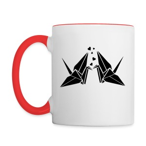 Origami birds Contrast Coffee Mug - Contrast Coffee Mug
