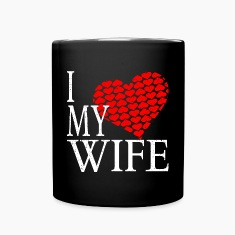 I Love My Wife Mugs & Drinkware