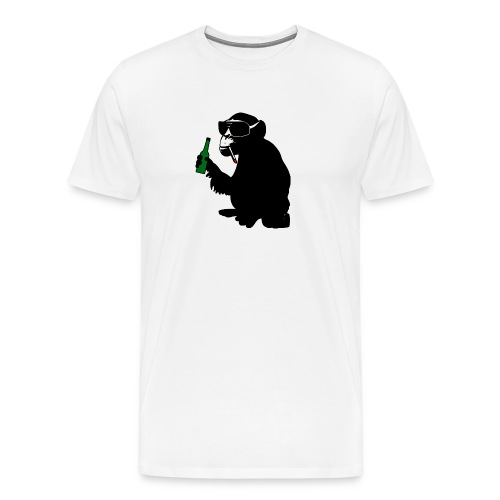 beer bottle monkey - Men's Premium T-Shirt