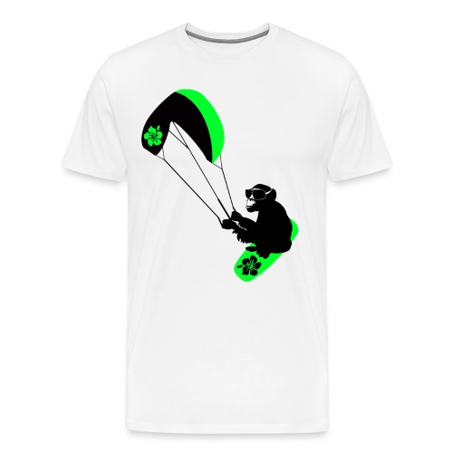 kiteboarder monkey - Men's Premium T-Shirt