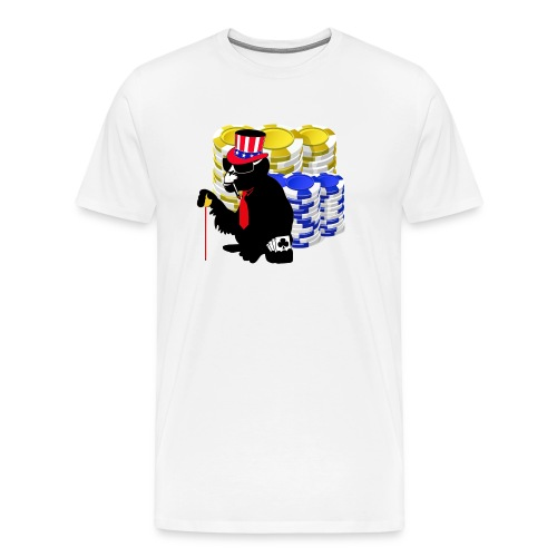 poker pokerface monkey - Men's Premium T-Shirt