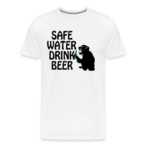 safe water drink beer - Men's Premium T-Shirt