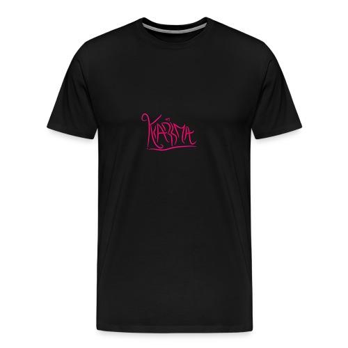KaRma Signature Shortsleeve T-Shirt(Black) - Men's Premium T-Shirt