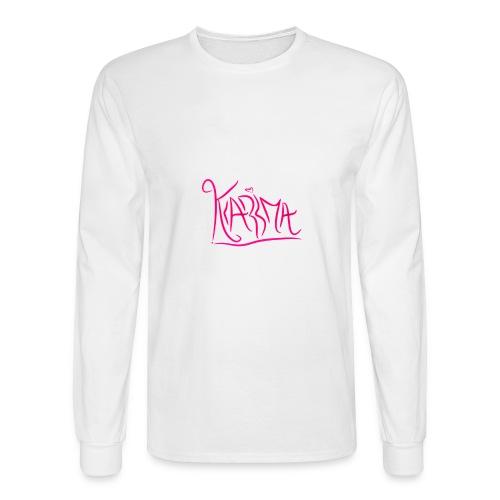 KaRma Signature Long Sleeve T-Shirt(White) - Men's Long Sleeve T-Shirt