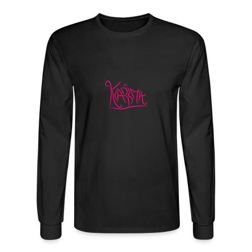KaRma Signature Longsleeve T-Shirt(Black) - Men's Long Sleeve T-Shirt
