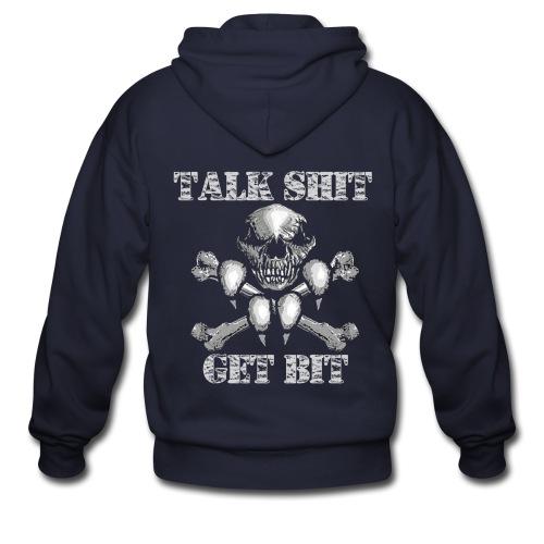 Talk Shit Get Bit - Men's Zip Hoodie