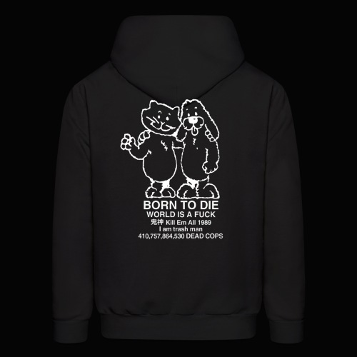WORLD IS A FUCK HOODIE (WHITE TEXT) - Men's Hoodie
