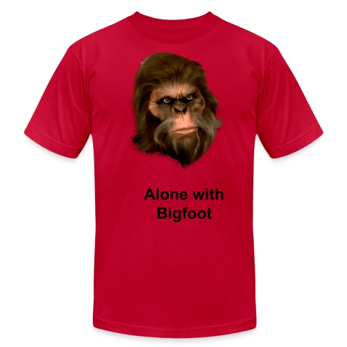 Alone with Bigfoot T shirt - Men's Fine Jersey T-Shirt