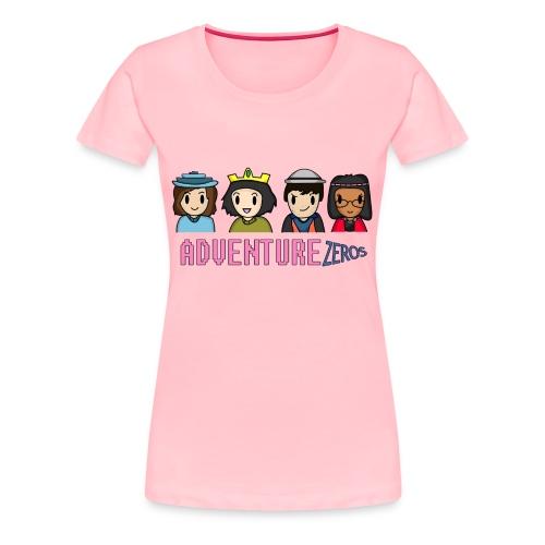 Adventure Zeros + Character shirt (F) - Women's Premium T-Shirt