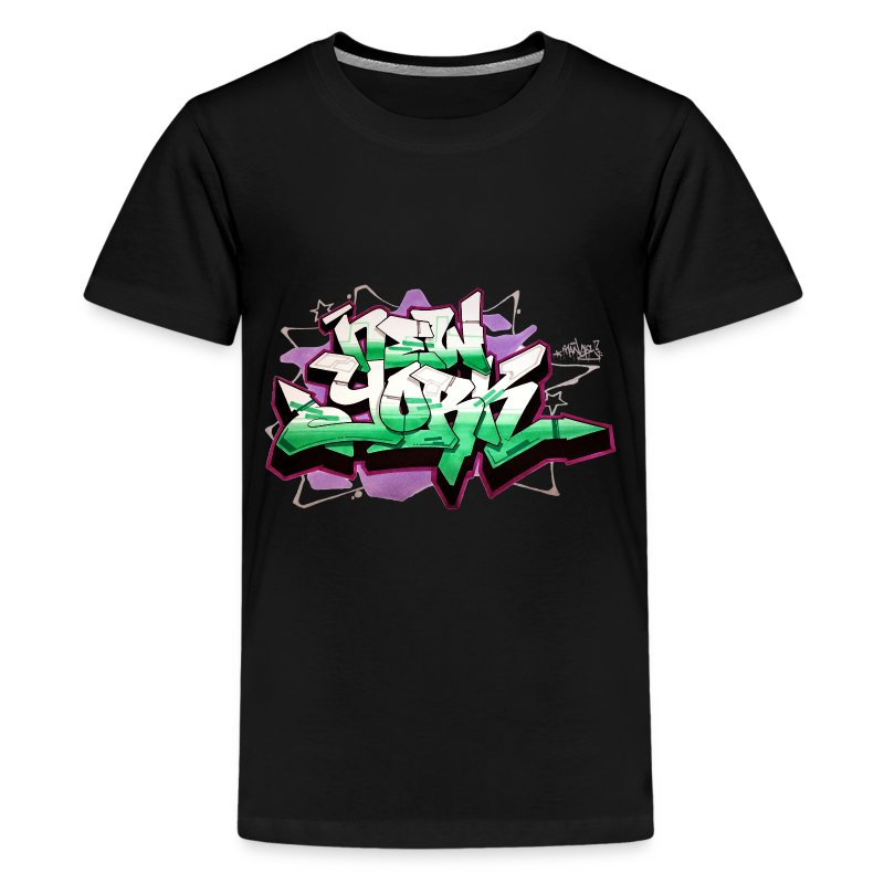 T Shirt Design York: Design For New York Graffiti Color Logo T-Shirt